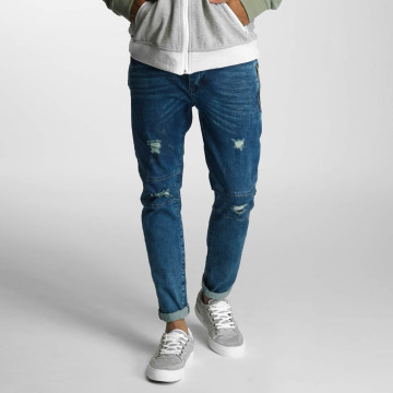 Just Rhyse Straight fit jeans Destroyed blauw