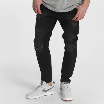 Just Rhyse Straight fit jeans Destroyed zwart