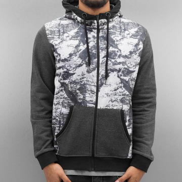 Just Rhyse Sweat capuche zippé Mountains gris