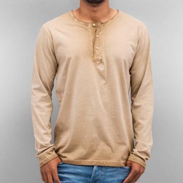 Just Rhyse T-Shirt manches longues Placket brun
