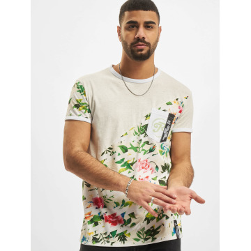 Just Rhyse T-Shirty Floral szary