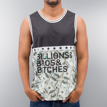 Just Rhyse Tank Tops Billions Bros Bitches schwarz