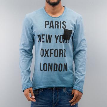 Just Rhyse Tričká dlhý rukáv Paris modrá