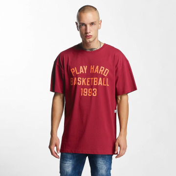K1X T-shirt Play Hard Basketball rosso