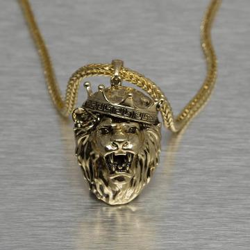 KING ICE Łańcuchy King Lion Crown zloty