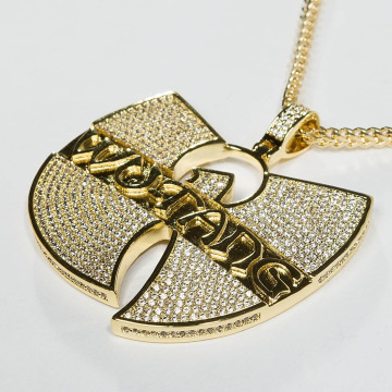 KING ICE Łańcuchy WU-TANG CLAN Gold_Plated CZ The Forever zloty