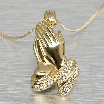 KING ICE Цепочка Praying Hand золото