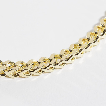 KING ICE Цепочка Gold_Plated 6mm Franco золото
