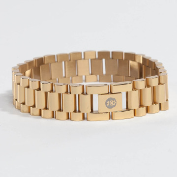 KING ICE Armband Gold_Plated 15mm Watch Link goldfarben
