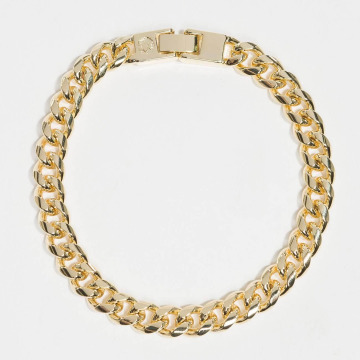 KING ICE armband Gold_Plated 8mm Miami Cuban Curb goud