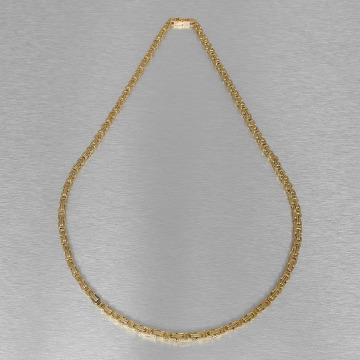 KING ICE Cadena Gold_Plated 5mm Byzantine King oro
