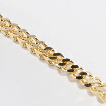 KING ICE Collana Gold_Plated 5mm Franco oro