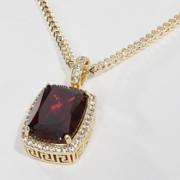 KING ICE Collana Gold_Plated Crown Julz oro