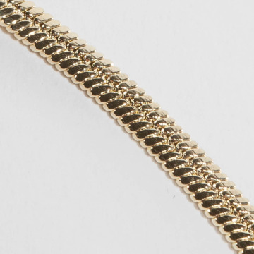 KING ICE Collier Gold_Plated 5mm Thick Herringbone or