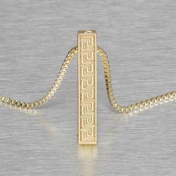 KING ICE Kette Greek Key Pillar goldfarben