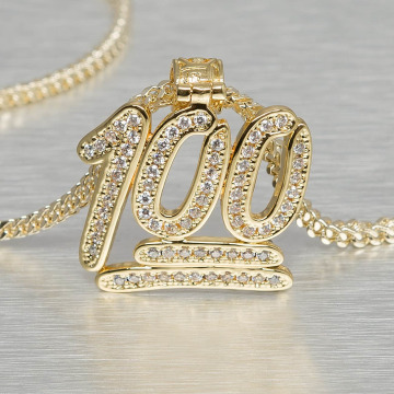 KING ICE ketting 100 Points Emoji goud