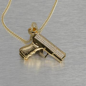 KING ICE ketting Handgun goud
