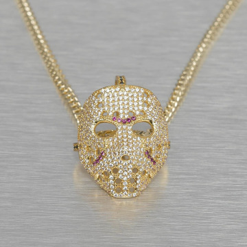 KING ICE ketting Small Hockey Mask goud