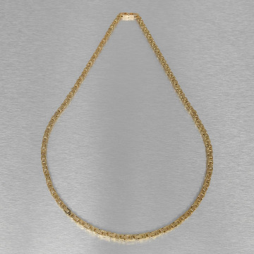 KING ICE ketting Gold_Plated 5mm Byzantine King goud