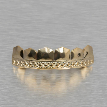 KING ICE More Diamond Pattern gold colored