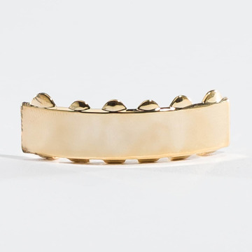 KING ICE More Gold_Plated Flat Finished Bottom gold colored