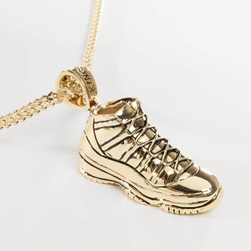 KING ICE Necklace Gold_Plated High Top gold