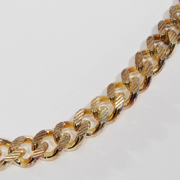 KING ICE Necklace Gold_Plated  Moon Cut Miami Cuban gold colored