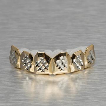 KING ICE Pozostałe Diamond Cut zloty