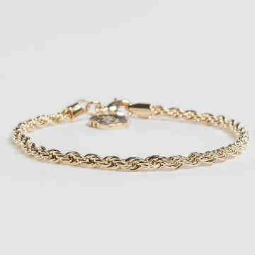 KING ICE Pulsera Gold_Plated 4mm Dookie Rope oro