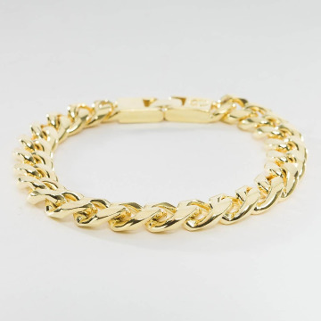 KING ICE Pulsera Gold_Plated 10mm Miami Cuban Curb oro