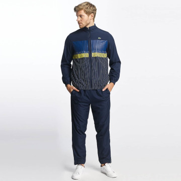 Lacoste Classic Trainingspak Stripes blauw