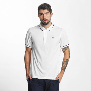 Lacoste Koszulki Polo Short Sleeved Ribbed Collar bialy