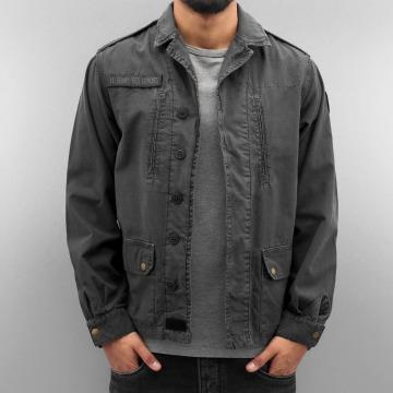 Le Temps Des Cerises Lightweight Jacket Militarie grey