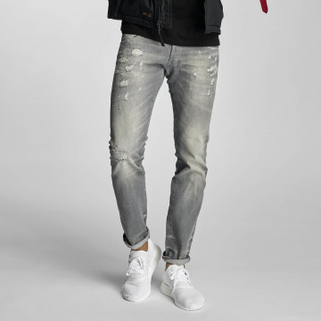 Le Temps Des Cerises Straight Fit Jeans 711 Mark grey