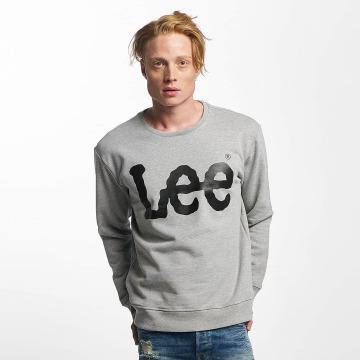 Lee Pullover Logo grau
