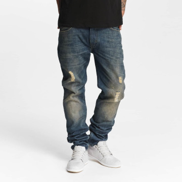 Lee Slim Fit Jeans Rider Destroyed blau