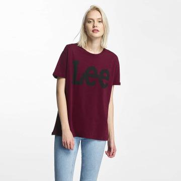 Lee T-Shirt Logo rot