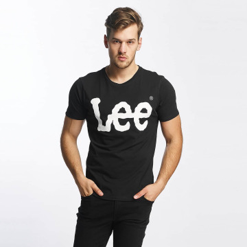 Lee t-shirt Logo zwart