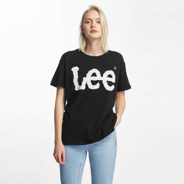 Lee t-shirt Logo zwart