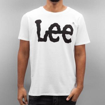 Lee T-shirts Logo hvid