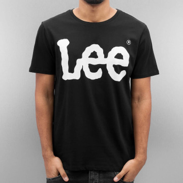 Lee T-shirts Logo sort