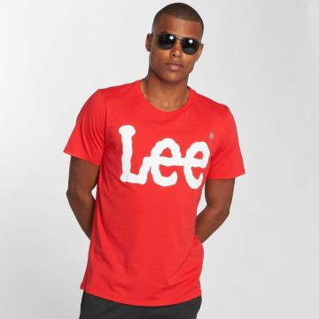 Lee T-Shirty Logo czerwony