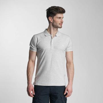 Lindbergh Camiseta polo Contrast Pique gris