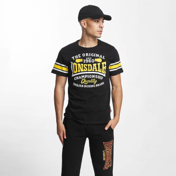 Lonsdale London Футболка Congleton Slim Fit черный