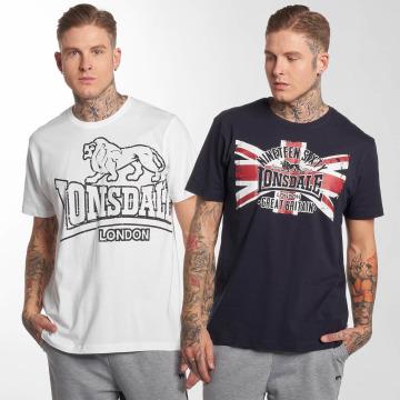 Lonsdale London t-shirt Portencross 2-Pack wit