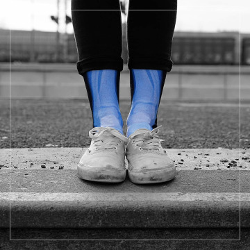 LUF SOX Chaussettes X-Ray noir
