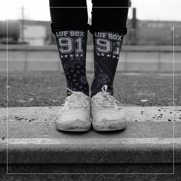 LUF SOX Socks Bandana black