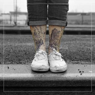 LUF SOX Socks World colored
