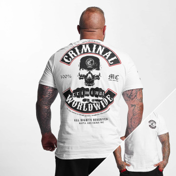 Mafia & Crime T-shirt Criminal Worldwide bianco
