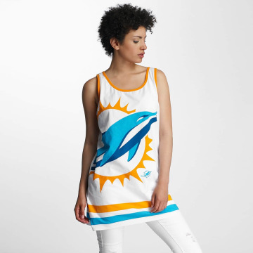 Majestic Athletic Tank Tops Miami Dolphins bianco